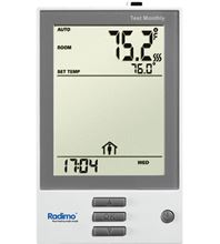 Radimo Electric Radiant Floor Programmable Thermostat - Dual Voltage - RADISTAT-PRO Front View