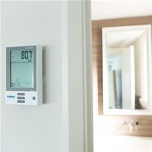 Radimo Electric Radiant Floor Programmable Thermostat - Dual Voltage - RADISTAT-PRO Installed View