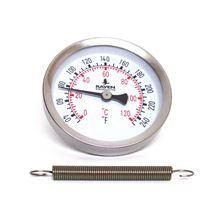 Raven Products Strap-on Thermometer for temperatures of 30 to 250 degrees - SORAVWHT-1