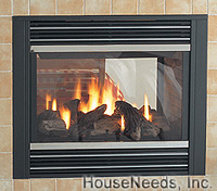 Regency Panorama See Through Glass Fireplace