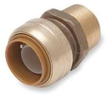 Cash Acme Sharkbite Reducing Connector Male NPT U116 not Lead Free for Heating Systems only