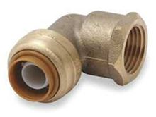 Cash Acme Sharkbite Push Fitting Elbow 1/2 by 1/2 Female NPT U308LF