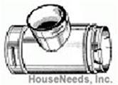 Duravent Galvanized 6 Inch B Vent - Standard Tee - 6GVT 0083