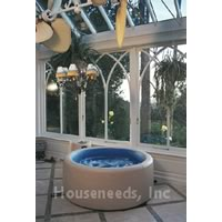 Softub Portable Electric Hot Tub - 140 Gallons - For 1-2 People With Port Exterior and Pearl Interior Liner - T140-PP