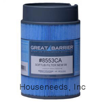 Softub Essentials - Great Barrier Microban Snap-On Replacement Filter - For Softub Spas Made after June 2009 - 8553