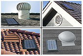 Solar Star Fan Gable Fan/conversion kit - 1200IM 122025 Install Examples