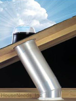 SolaTube Brighten Up Series Skylight - 10 Inch Tube Kit with Pitch Metal Flashing, Vusion diffuser and 2 16 inch extension tubes - 160DS-DA-FPM-E1602-L4 - 120610