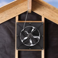 Solar Star Fan Gable Fan/conversion kit - 1200IM 122025 Install Example