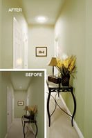 SolaTube Brighten Up Series Skylight - 10 Inch Tube Kit install and example of a hallway install