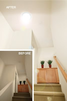 SolaTube Brighten Up Series Skylight - 10 Inch Tube Kit install and example of a stair ways install