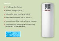 Stiebel Eltron Accelera 300 E Heat Pump Water Heater - 79.8 Gallons - 233059 Features