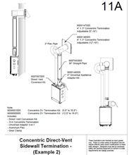 Takagi Concentric Wall Ventilation Terminator 100112421  / 9008001005