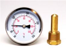 Analog Temperature Gauge with 1/2 inch Male Thread Well - J40-703