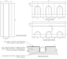 Thermal Board - 16 inches by 48 inches by 5/8 inches - 5.33 square feet all three types with example of profile