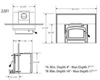 Timberwolf Wood Insert EPA 2201 Dimensions