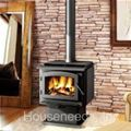 Timberwolf Economizer Large Wood Stove - Painted Black - 2300 = v8106