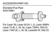 ToyoStove Laser Standard Flue Pipe - 20479891