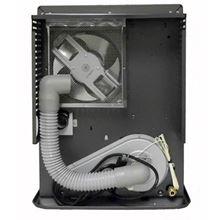 Toyotomi ToyoStove Laser 300GR Direct Vent Oil Kerosene Heater 15000 BTU - Laser 300GR Graphite Color Back of Unit