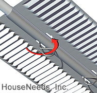 Ultra-Fin Alum PEX Aluminum 10 Inch Heat Transfer Plates UF4010 - Count 100 showing Ultra-Fin Turn Key Pins installed