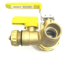 Webstone Union Ball Valve 1 inch IPS (Threaded) Union by 1 inch Sweat with 1/2 inch Hi Flow hose drain - 50434