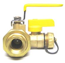 Webstone Union Ball Valve 3/4 inch IPS (Threaded) Union by 3/4 inch IPS (Threaded) with 1/2 inch Hi Flow hose drain - 40433 view of the union connection