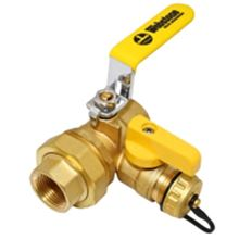 Webstone Union Ball Valve 3/4 inch IPS (Threaded) Union by 3/4 inch IPS (Threaded) with 1/2 inch Hi Flow hose drain - 40433