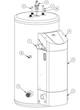 Westinghouse Condensing Water Heater - 50 Gallon with 76000 BTU - Stainless Steel in Liquid Propane - WGR050LP076 Exploded View Diagram