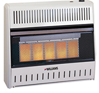Williams Gas Ventless Heater Features Infrared 3096542