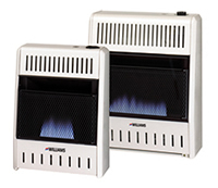 Williams Vent-Free Gas Heater Blue Flame with Glass Front and Built-in Thermostat Natural Gas/Liquid Propane 1096543.9