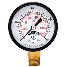 Winters Instruments Pressure Gauge - 100psi. Pressure gauge 1/4 - PEM202 - E-202