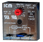 ICM Controls Delay Timer ICM105B for Gas Boilers, Oil Boilers, Radiant Heat and Hydronic Systems