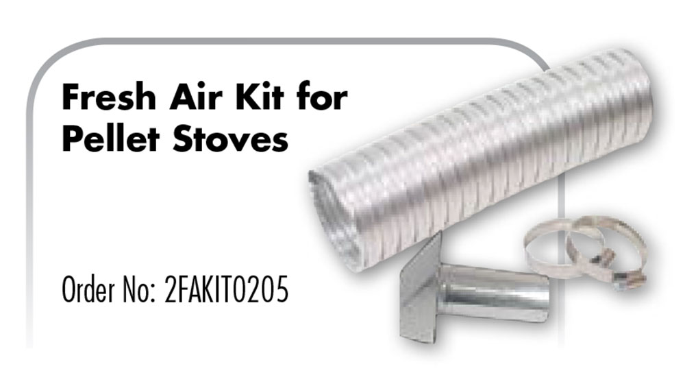 Z Flex Z Vent Fresh Air Kit For Pellet Stoves 2fakit0205