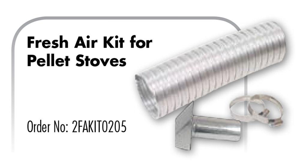 Z Flex Z Vent Fresh Air Kit For Pellet Stoves 2fakit0205