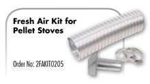 Z Flex Z Vent Fresh Air Kit for Pellet Stoves - 2FAKIT0205. 2 Inch Diameter