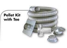 Z Flex Z Vent Pellet Stove Flexible Stainless Steel Vent Kit 4 inch by 35 feet - 2ZFLKIT0435