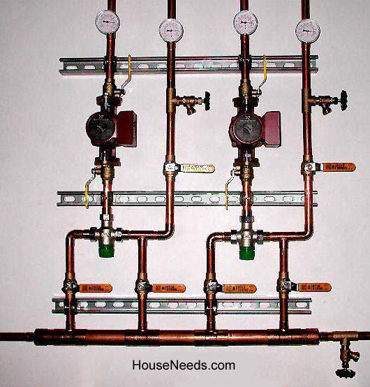 Primary Loop with two mixing valves