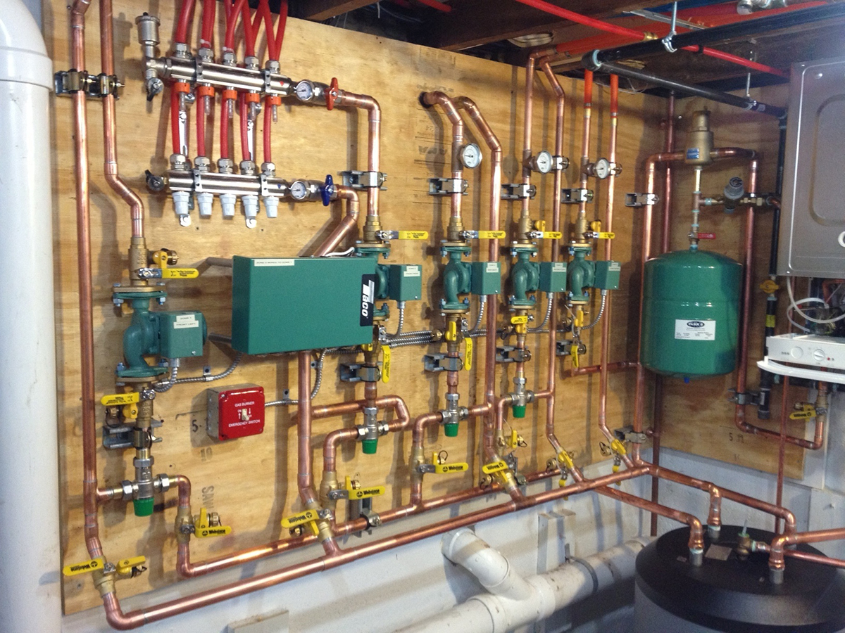 Hydronic Heating Supplies and Radiant connected to a Boiler
