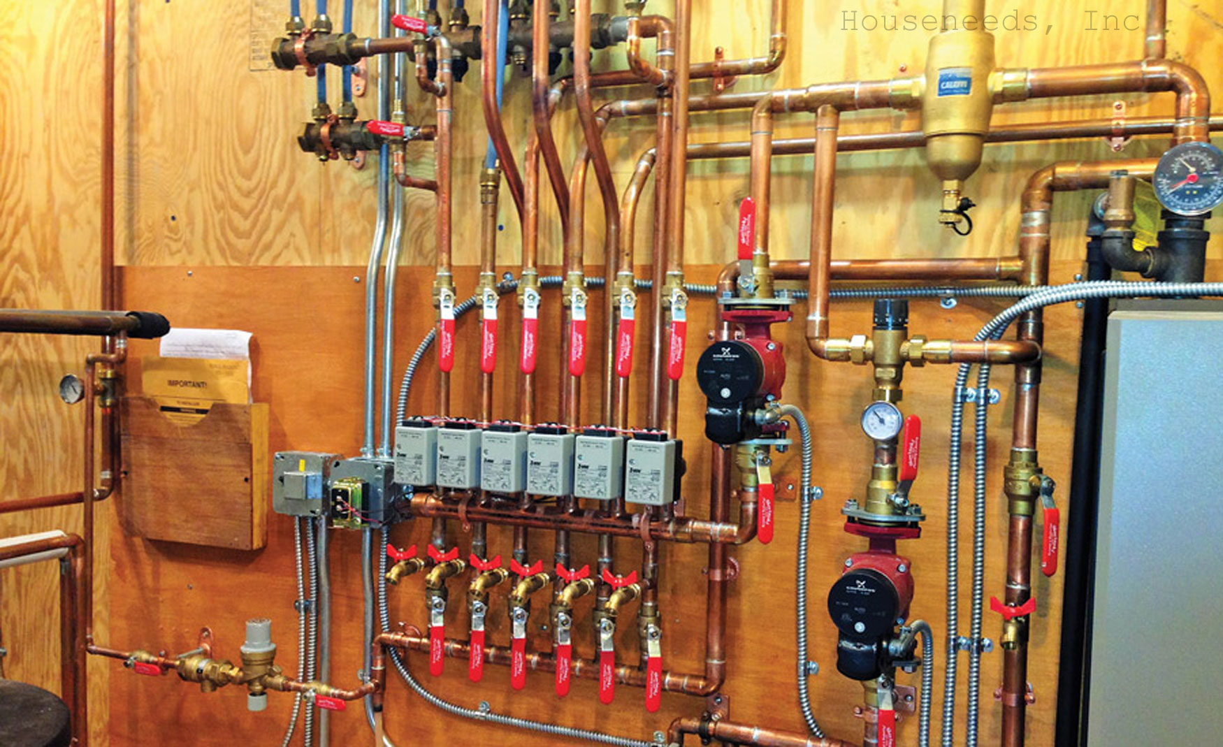 Hydronic heating system boiler with Zone Valves