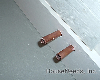 Attaching copper to PEX and Mounting the baseboard to the Hydronic Radiators System