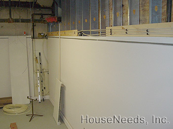 Running the PEX tubing to the Hydronic Radiators System