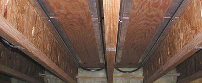 Retrofit Radiant Heat Under Floor Joists Mountain