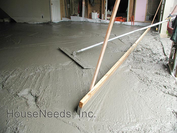 Radiant slab on grade install - leveling the concrete