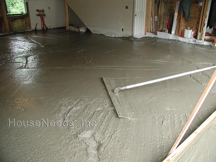 Pouring and Leveling the Concrete