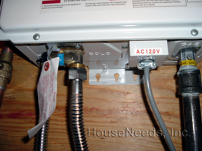 tankless water heater install diary from one of our customers